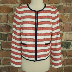 Brooks Brothers Red Fleece White Striped Jacket 10